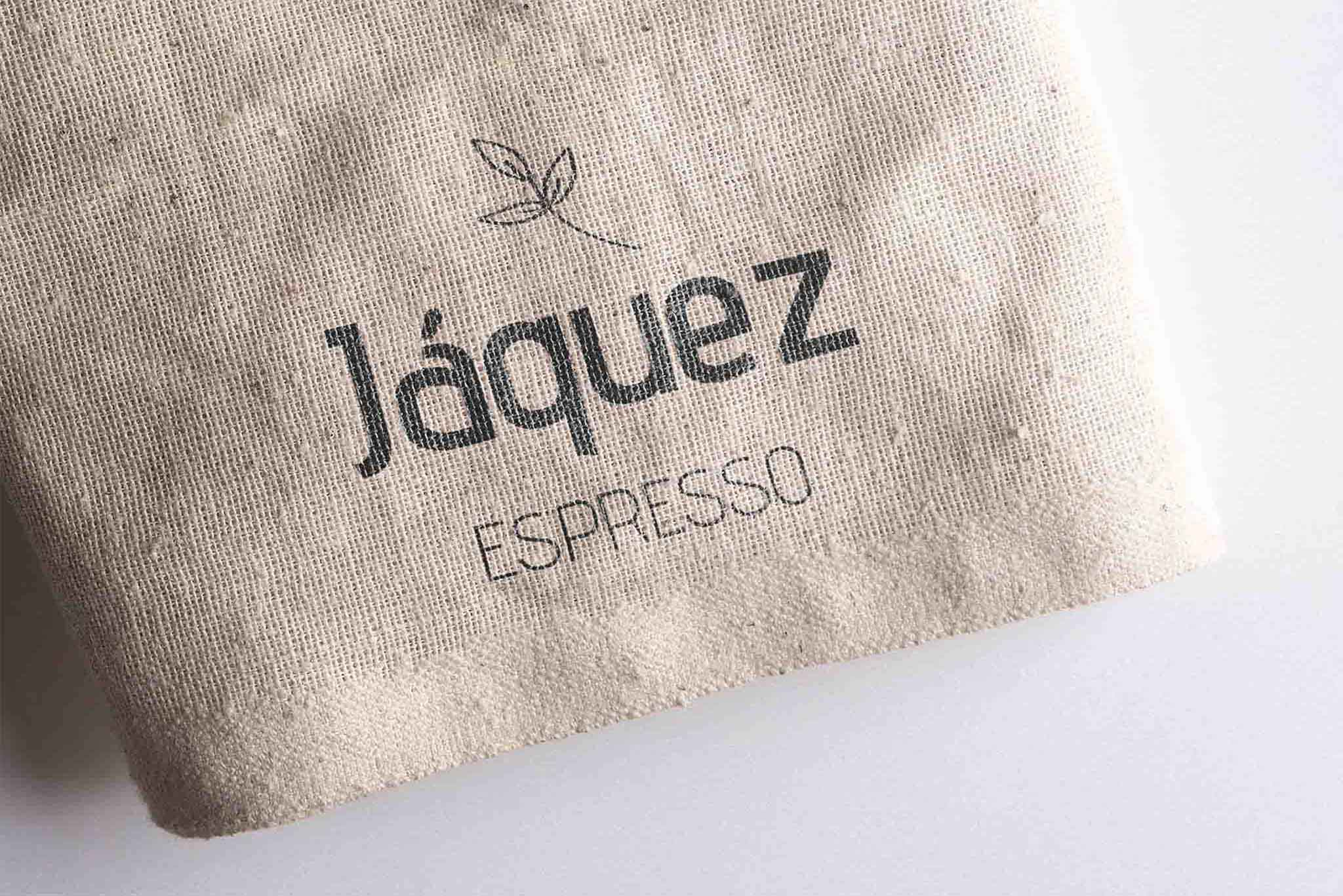 Jáquez Expresso Coffe Logo on Linen Bag