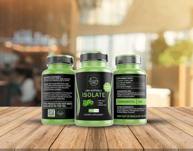 Healthworx CBD Capsules Green Bottle