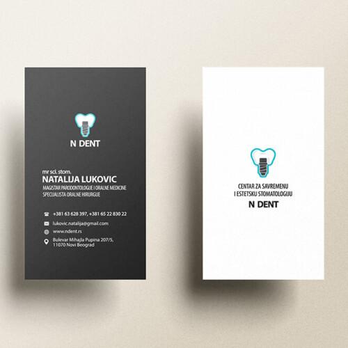 Natalija Lukovic Business Card Dark